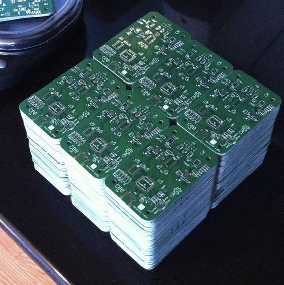 Stacks of PCBs